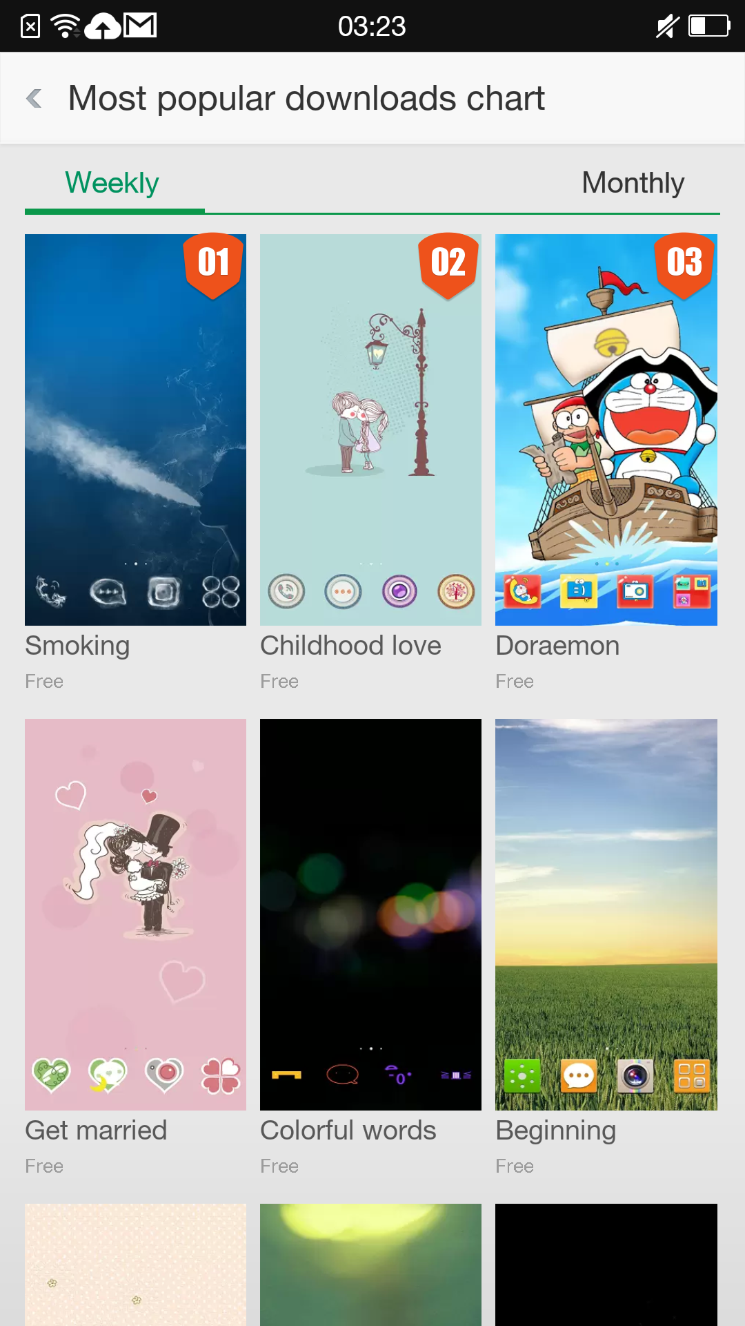 The Oppo theme store has a wide variety of skins for Color OS.
