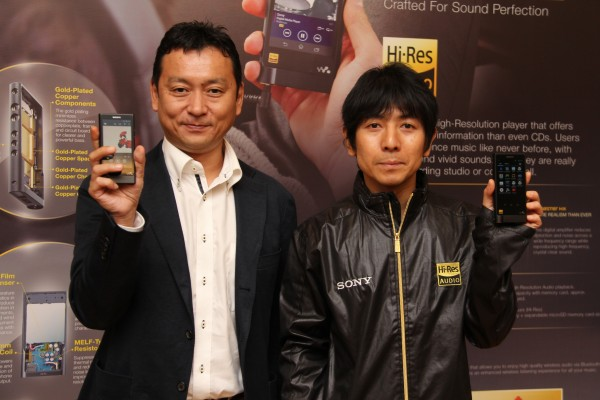 From L-R: Satoshi Hatano, Managing Director, Sony Malaysia, and Katsumasa Yoshioka, Sony Walkman NW-ZX2's Electrical Design Leader, Visual & Sound Business Group.