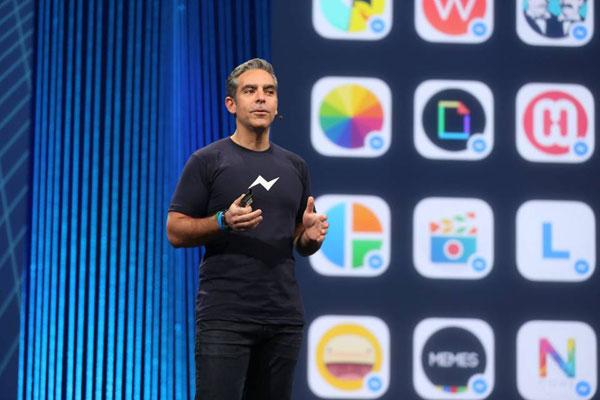 Facebook Messenger head David Marcus talks about the new Messenger Platform. (Image Source: Facebook)