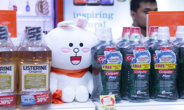 Brown and Cony dolls were scattered throughout the store for the finalists to discover.
