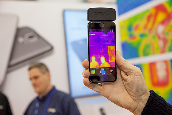 The new and updated FLIR ONE personal thermal imaging device is now available for iOS and Android. The new Lepton camera found in the FLIR ONE can offer four times more resolution than its previous version. It will be available in the middle of this year.