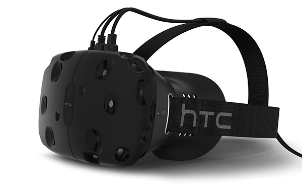 The new HTC Vive VR headset.