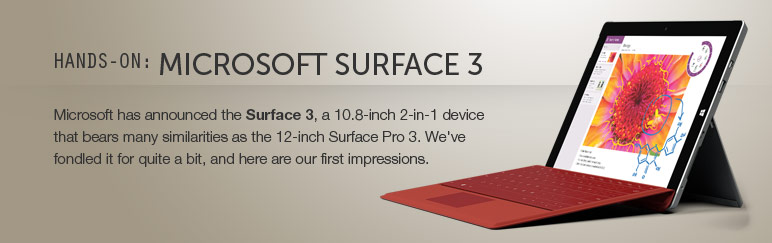 Hands-on: Microsoft Surface 3