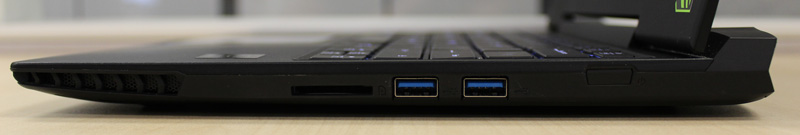 The right side of the X3 Plus V3 is pretty bare, with only two USB 3.0 ports and the SD card reader.