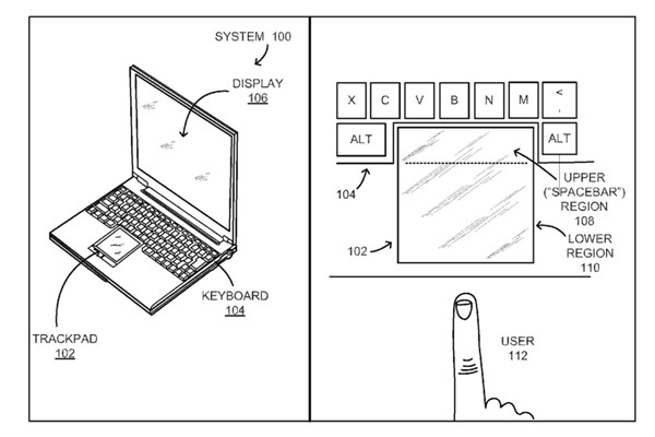 This is how the concept may look like. Will you be able to get used to this? <br> Image source: USPTO.