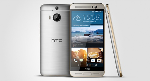 The HTC One M9+. <br>Image source: HTC Blog