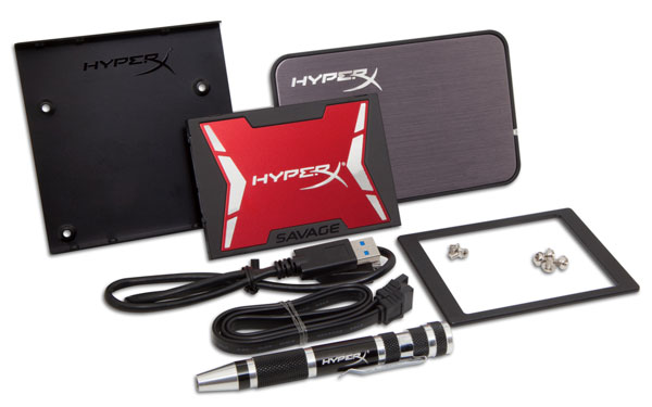 The HyperX Savage also ships with an upgrade bundle kit. (Image Source: Kingston)