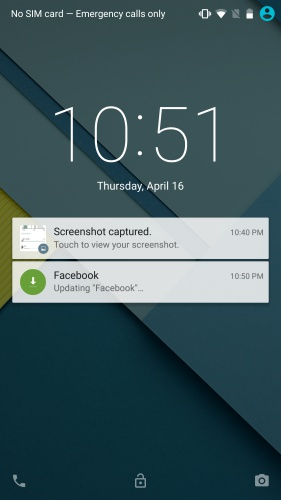 Notifications on the lock screen are now more interactive.