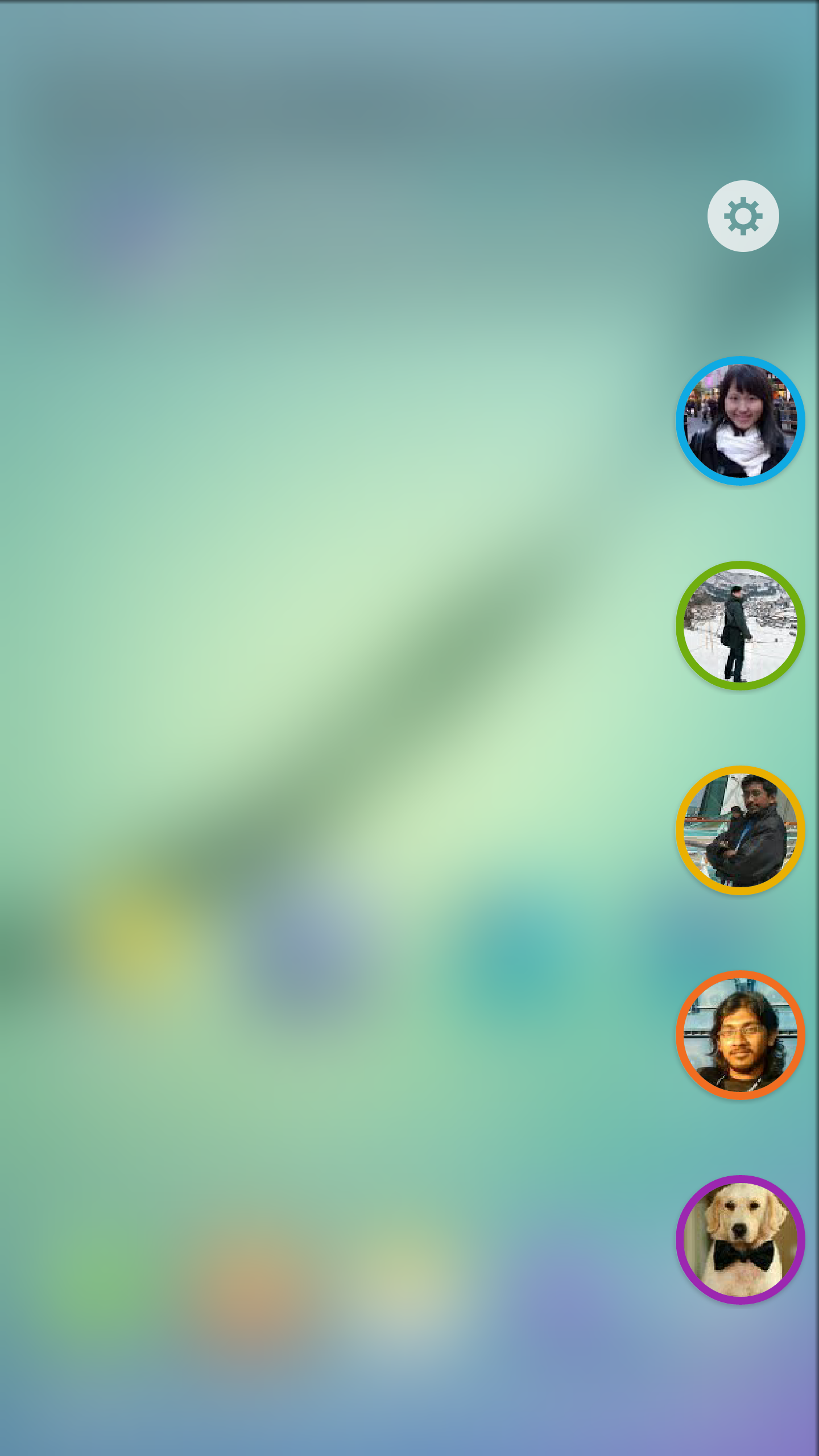 Pick your five favorite people for quick call and SMS access. You can assign each one a unique color.