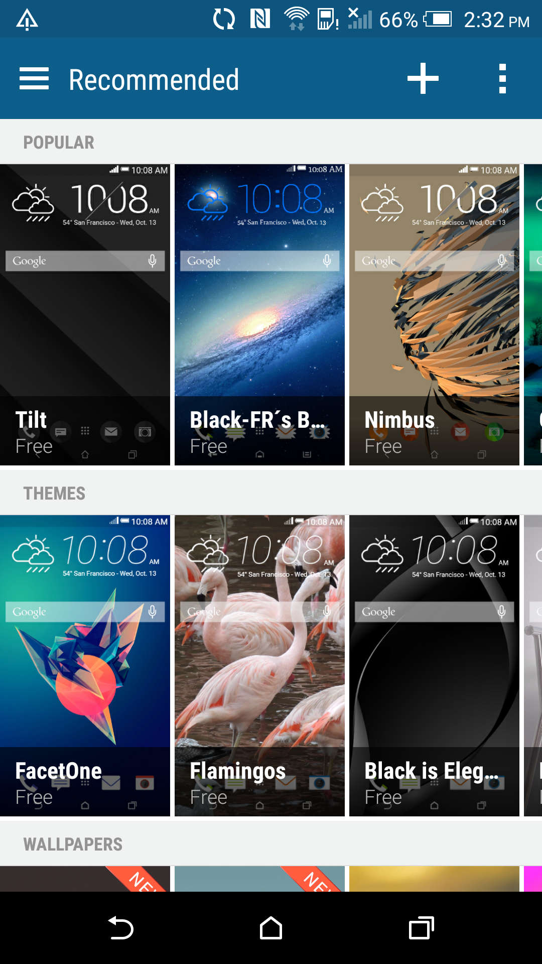 HTC's Theme store has a pretty decent selection of themes available.