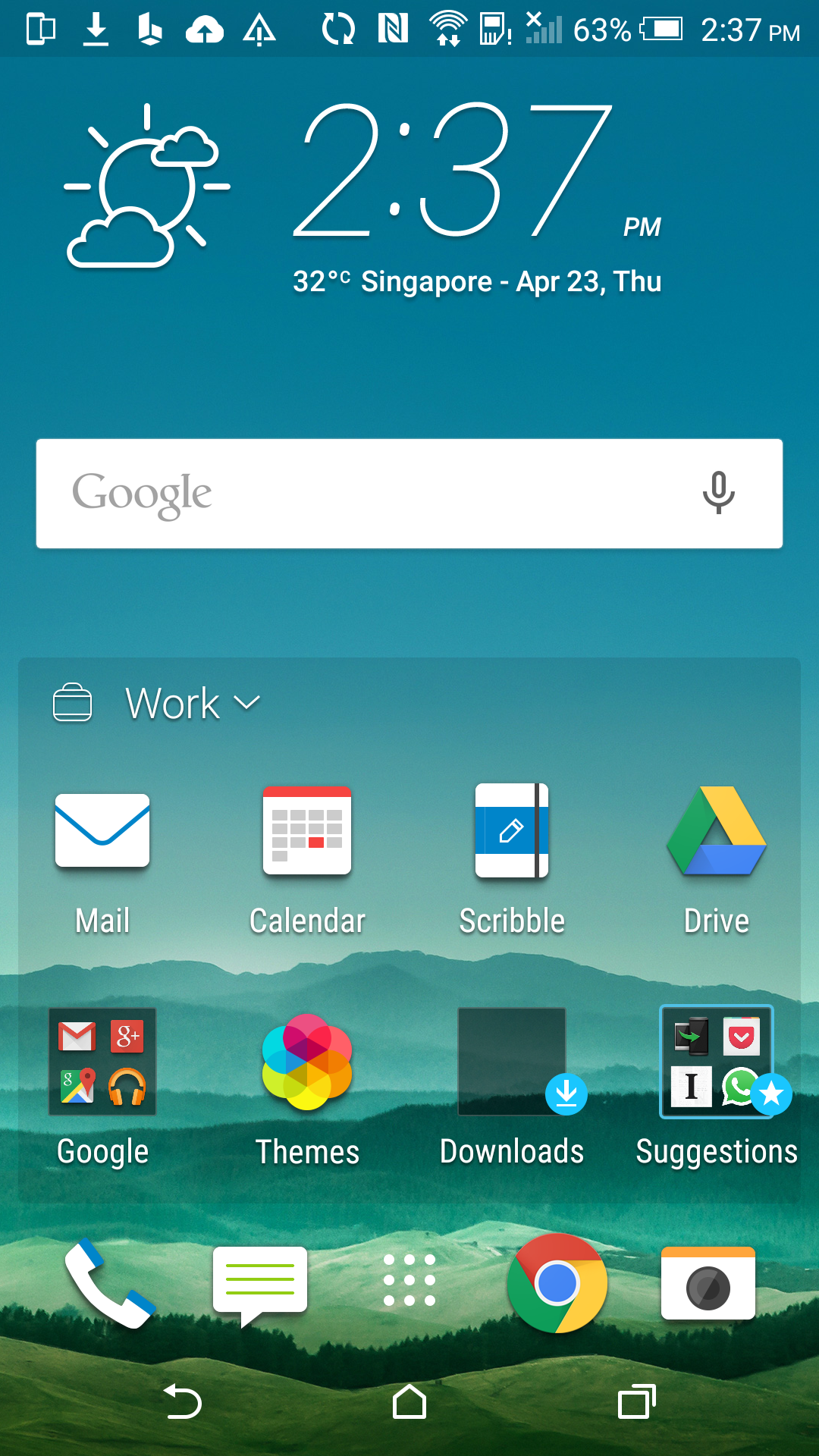 how to create folders for apps on htc one m9