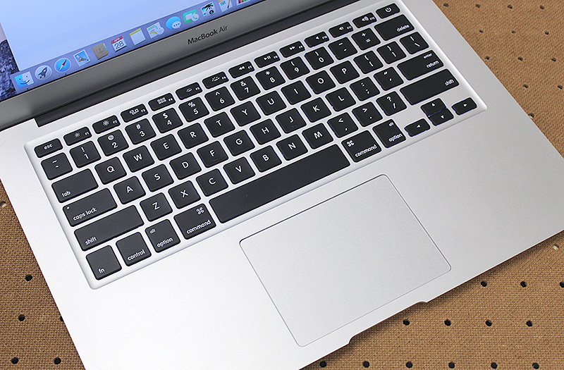 The MacBook Air's keyboard remains excellent and the glass trackpad is, in a word, faultless.