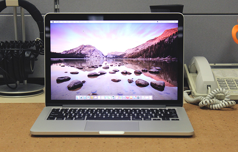 The 13-inch MacBook Pro with Retina display still sports the same design and is starting to look a little chubby next to newer 13-inch notebooks from competitors.