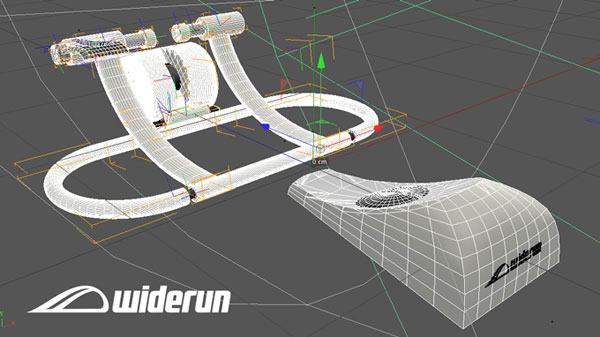 Final concept design featuring bike trainer and steering component. (Image Source: Widerun)