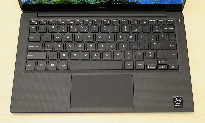 Despite the XPS 13's smaller frame, it has full-sized keys and a large trackpad.