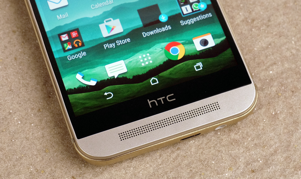 The BoomSound stereo speakers are the highlight of the HTC One M9's feature package.