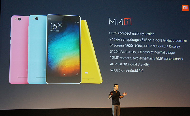 These are the new Mi 4i's key specifications.