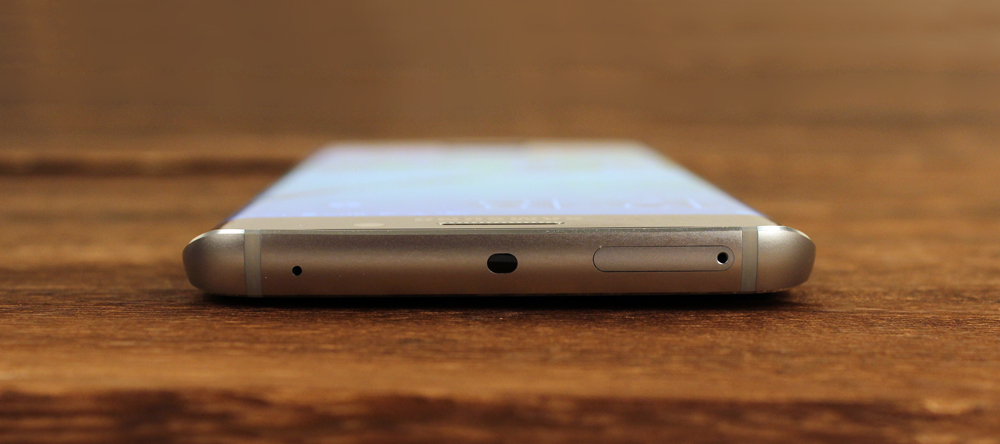And on the S6 Edge, you'll find the nano-SIM card slot here too.