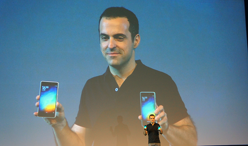 Hugo Barra, Vice President of International for Xiaomi, took to the stage to unveil the company's latest flagship smartphone.