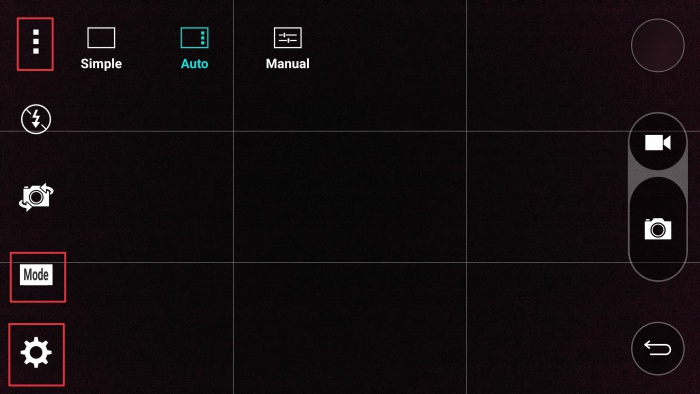 You will be confused by the number of possible options to tap on when accessing the different camera settings on the LG G4.