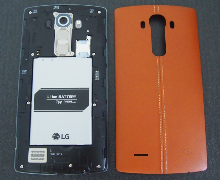 Of the three Android flagship smartphones featured in this article, the LG G4 is the only one which comes with a removable back cover and battery. It is also the only one still using the micro-SIM standard.