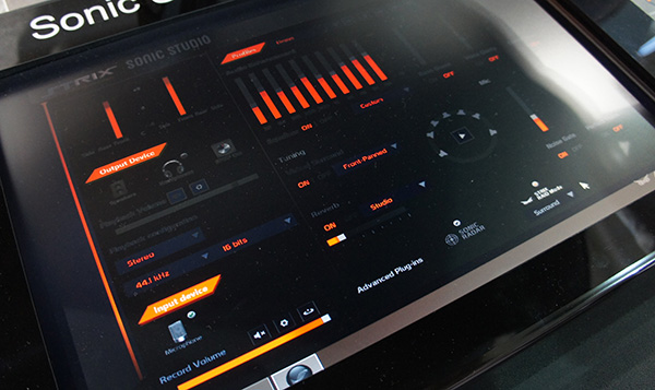The Strix Sonic Studio control panel's main menu gives users lots of options, but it does look quite messy and daunting.