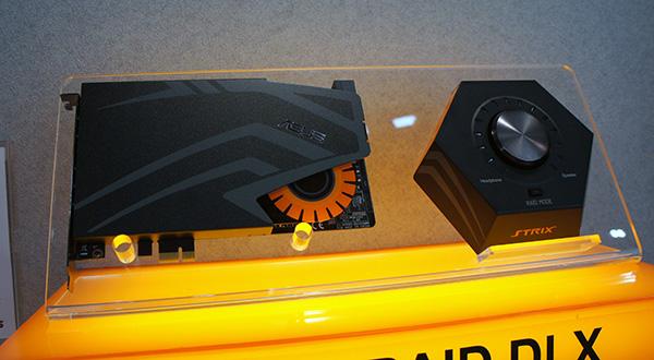 The new ASUS Strix Raid DLX PCI sound card.
