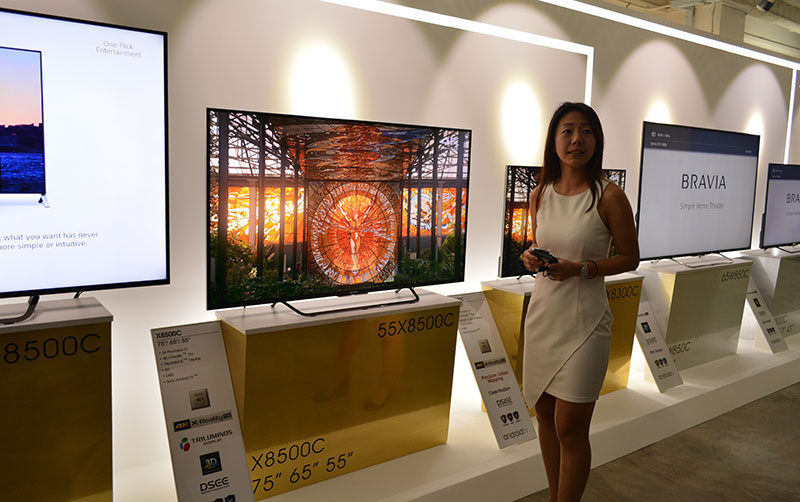 The X8500C and X8300C were also on display to show off the new 4K Processor X1.