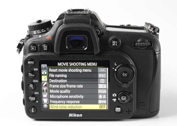 More movie specific options are available with the D7200.