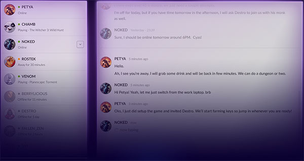 As expected of any online gaming desktop client, GOG Galaxy has community features like friend lists and chat. (Image Source: GOG)