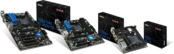 MSI's new motherboards will be available in mini-ITX, micro-ATX and ATX form factors. (Image Source: MSI)
