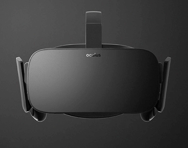 The final look of the Oculus Rift headset.
