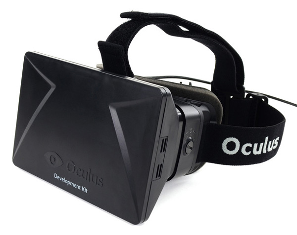 The original Oculus Rift Development Kit (DK) 1, which was shipped to developers in late 2012.
