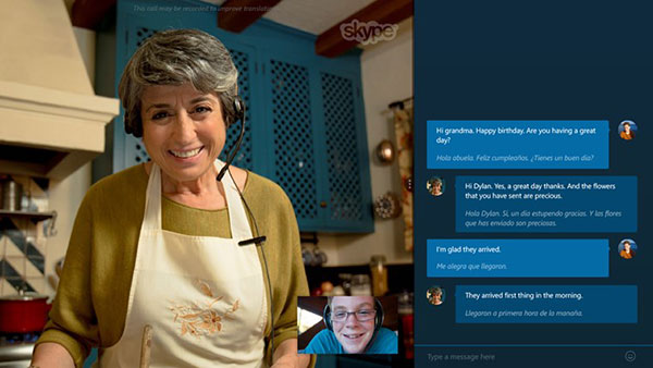 Skype Translator offers real-time translations for speech and instant messaging. <br>Image source: Microsoft.