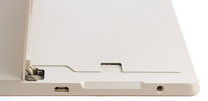 Like the Surface Pro 3, the Surface 3 sports a microSD expansion card slot under its kickstand.