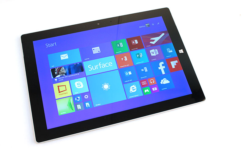 The Surface 3 sports a smaller 10.8-inch, 1,920 x 1,280 pixels resolution display.