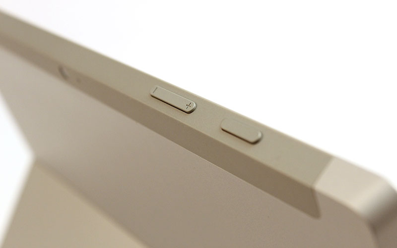 The volume rocker now sits at the top of the device, next to the power button.
