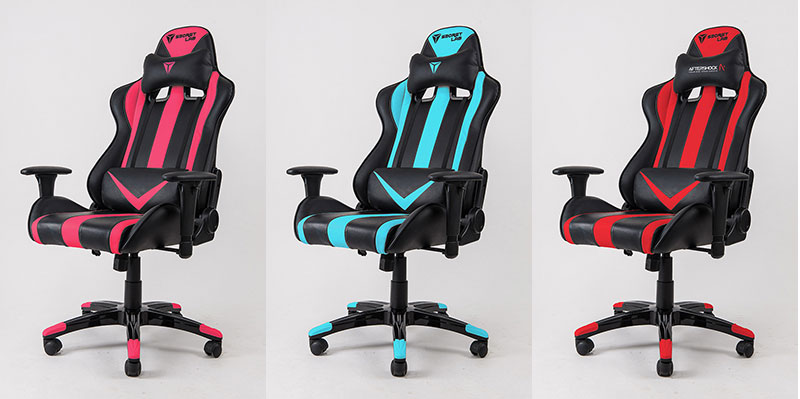 The Throne is also available in hot pink, aqua blue and Aftershock red. (Image Source: Secretlab)