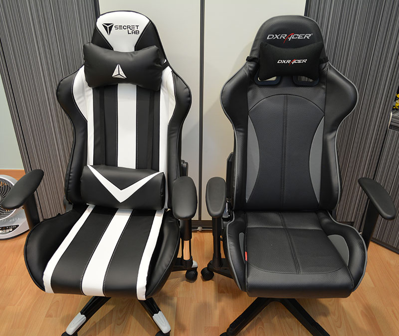 The Throne Set Beside A DXRacer Formula Series Chair (OH/FE57/NG)