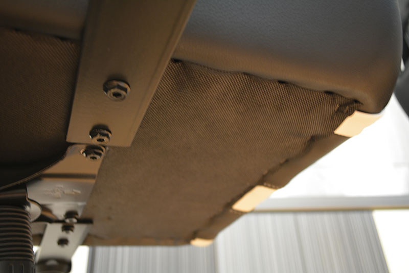 Each armrest is secured by two Allen screws which can be removed if users do not wish to use the armrests.
