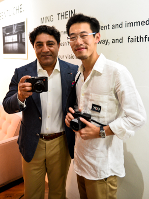 Sunil Kaul (left), Managing Director of Leica Camera Asia Pacific, and Ming Thein, celebrity photographer, with the Leica Q.