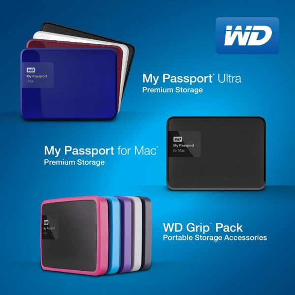 WD's My Passport Ultra and My Passport for Mac redesigned