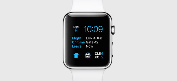 You can now display information from third-party apps on your watch face. <br>Image source: Apple.