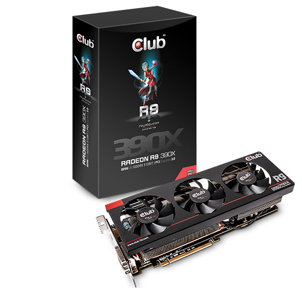Club 3D Radeon R9 390X. (Image Source: Club 3D)