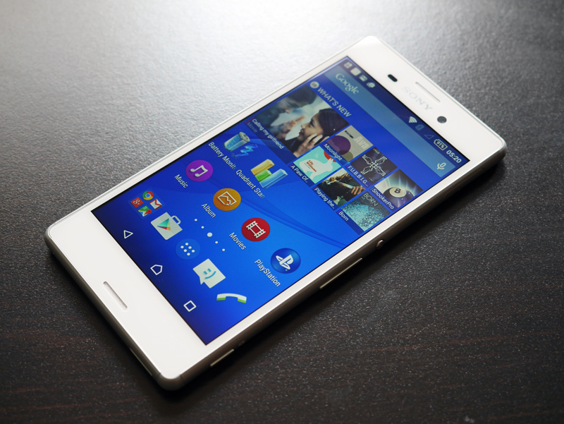 We reviewed the white version of the Xperia M4 Aqua. Notice how much the phone resembles the Sony Xperia Z3.