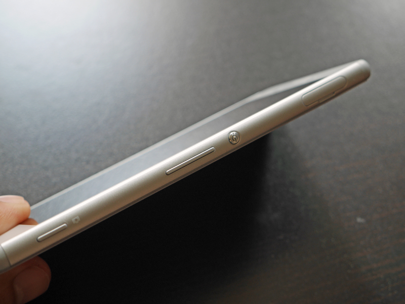 The Xperia M4 Aqua comes with a dedicated camera button (left), which sits below the volume rocker.