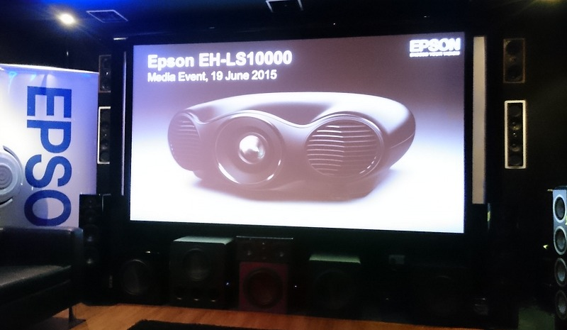 Test drive of the Epson EH-LS10000 projector at KEC Sound System.