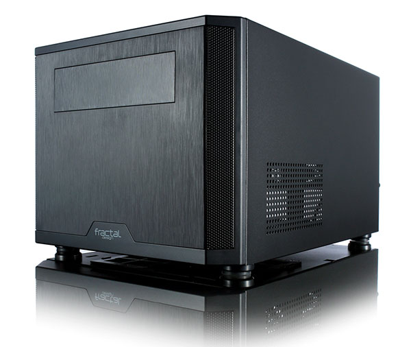 The Core 500 features a brushed metal finish down its front panel. (Image Source: Fractal Design)