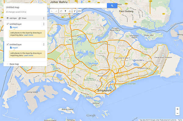 Now you can import data to overlay on custom maps and share them with other users via Google Drive.