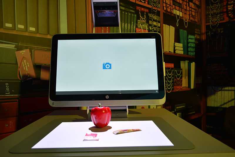 To scan an object, simply place it on the HP Touch Mat and hit scan.